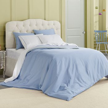 bluebellgray - Corrie Reversible Solid Duvet Set, Full/Queen