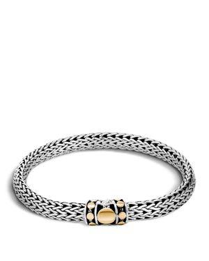 John Hardy Sterling Silver and 18K Bonded Gold Dot Medium Chain Bracelet