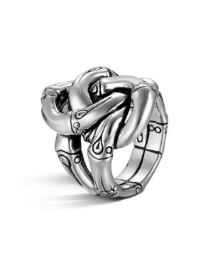 John Hardy Women's Sterling Silver Bamboo Knot Ring