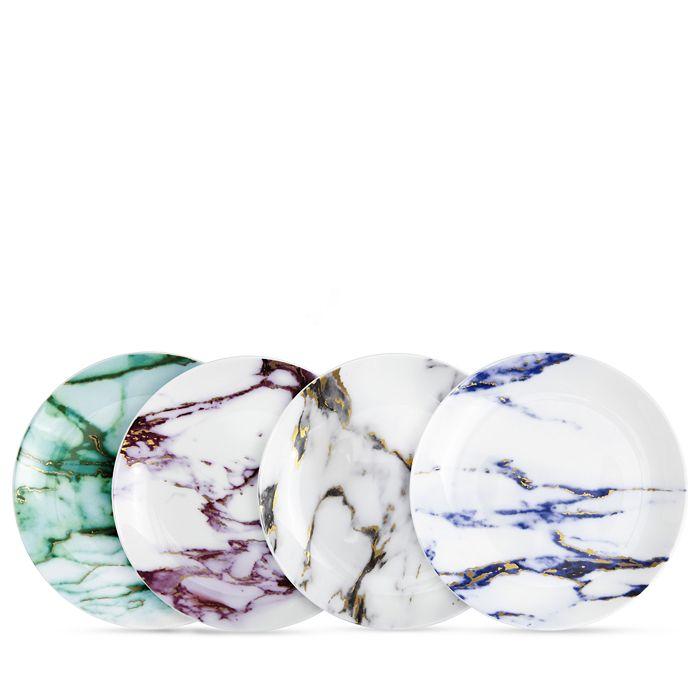Prouna - Marble Canapé Plates, Set of 4