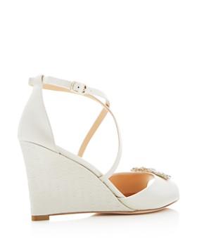 Badgley Mischka - Women's Abigail Crisscross Wedge Sandals