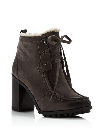 8682fb0cd9d902 Sam Edelman - Women s Madge Faux Fur Lace Up High-Heel Booties