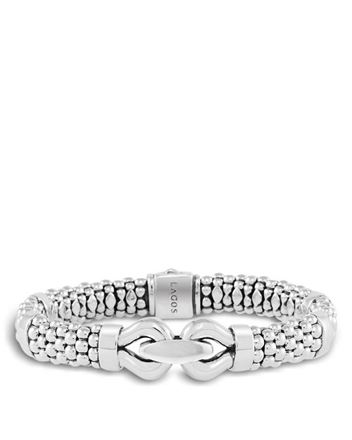 LAGOS - Derby Large Buckle Sterling Silver Caviar Bracelet