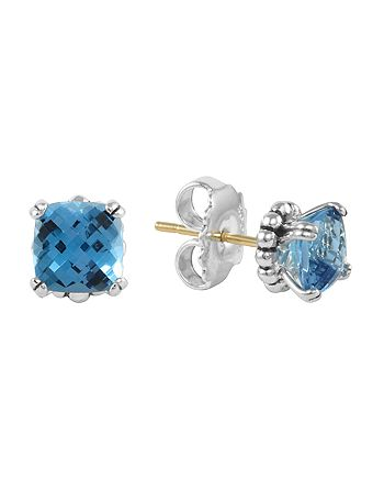 LAGOS - Sterling Silver Prism Blue Topaz Stud Earrings