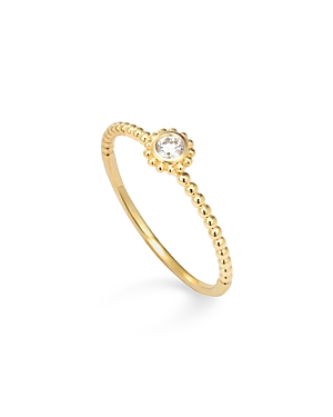 Lagos 18K Gold and Round Diamond Stackable Ring