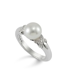 LAGOS Luna Pearl Diamond X Ring - Bloomingdale's_0