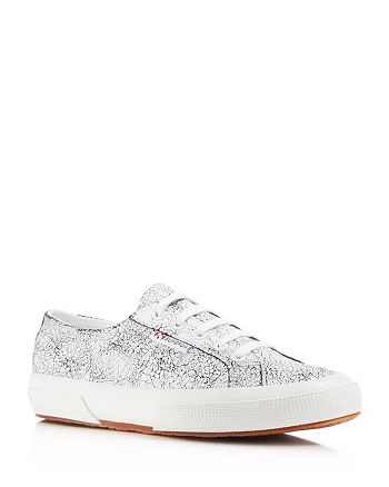 Superga - Crackle Lace Up Sneakers