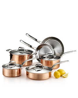 Lagostina - Martellata Tri-Ply Hammered Copper 10-Piece Set