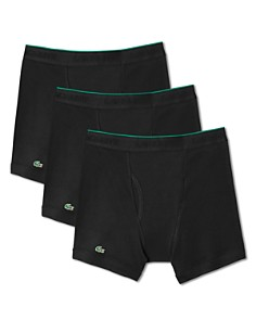 Lacoste - Solid Cotton Boxer Briefs, Pack of 3