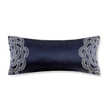 "Natori - Origami Mum Oblong Decorative Pillow, 10"" x 22"""
