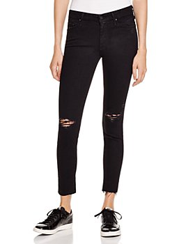 MOTHER - Looker Ankle Fray Jeans in Guilty as Sin