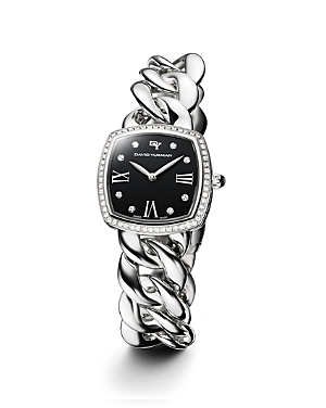 David Yurman Albion Stainless Steel Watch with Diamonds, 27mm