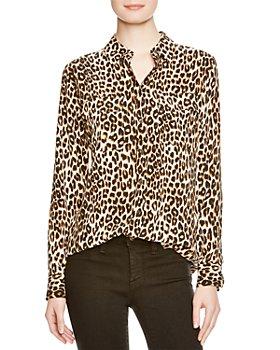 Equipment - Slim Signature Leopard-Printed Silk Shirt