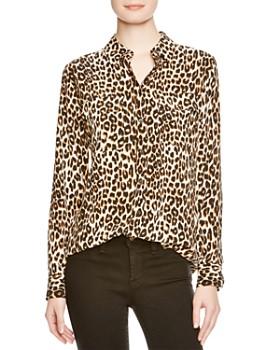 afab25f3d26371 Equipment - Leopard Print Slim Signature Shirt ...