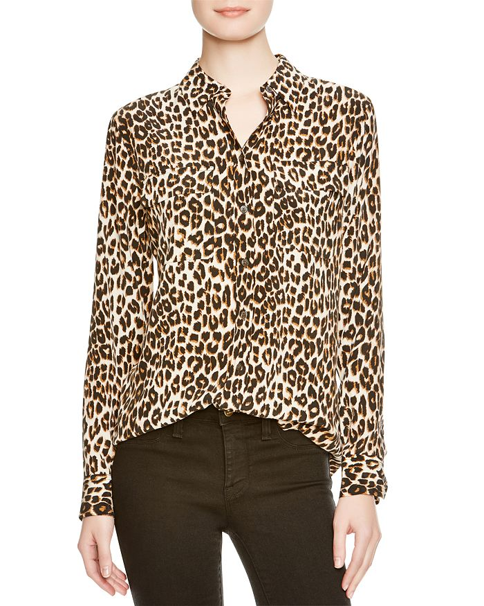 5905a25aeeee Equipment Shirt - Leopard Print Slim Signature