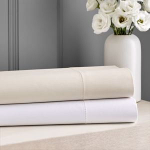 Hudson Park 600TC Sateen Solid Flat Sheet, Twin - 100% Exclusive