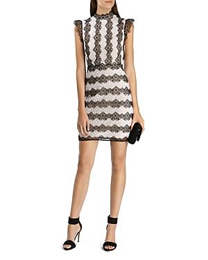 Karen Millen Color-Blocked Lace Dress