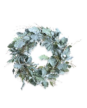 "Gold Eagle - Dusty Miller Wreath, 27"""