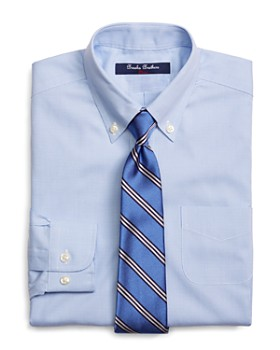 Brooks Brothers - Boys' Mini Houndstooth Dress Shirt - Little Kid, Big Kid