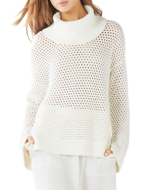 Bcbgmaxazria Bethenny Funnel Neck Mesh Sweater