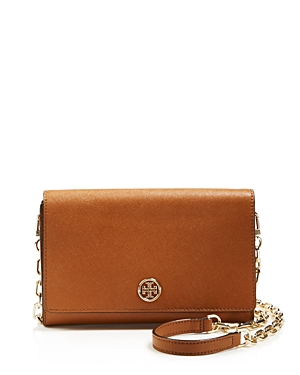 Tory Burch Crossbody - Robinson Saffiano Wallet on a Chain