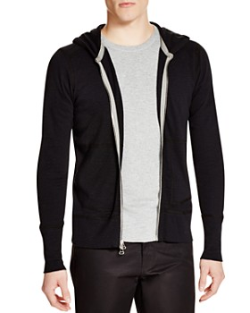 Wings and Horns - Slub Knit Full Zip Hoodie