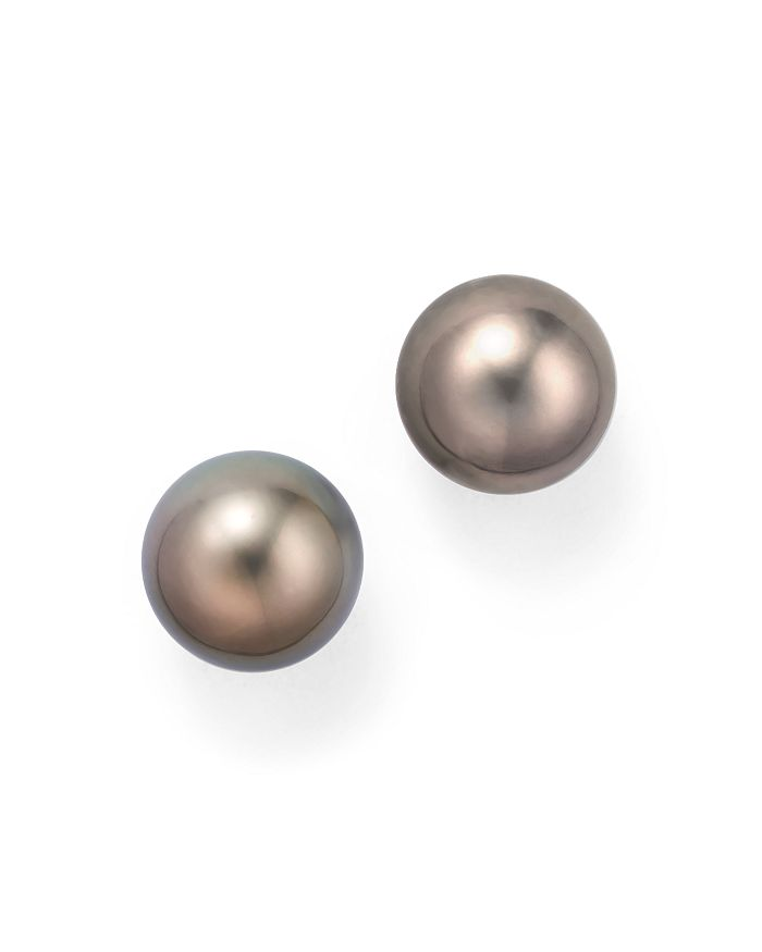Bloomingdale's - Cultured Tahitian Pearl Stud Earrings, 12mm - 100% Exclusive