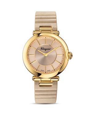 Salvatore Ferragamo Style Beige Watch, 36mm