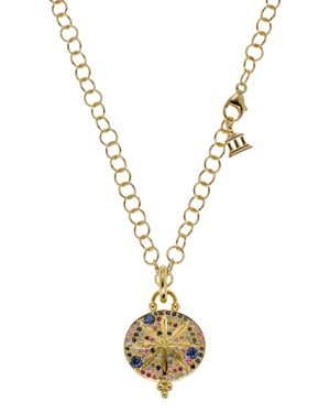 Temple St. Clair 18K Yellow Gold Sorcerer Pendant with Mixed Sapphires
