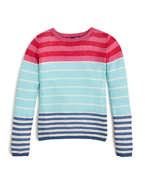 Aqua Girls' Multi Stripe Color Block Sweater, Sizes S-xl - 100% Exclusive
