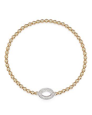 Bloomingdale's - Diamond Oval Bead Bracelet in 14K Rose Gold, .30 ct. t.w.- 100% Exclusive