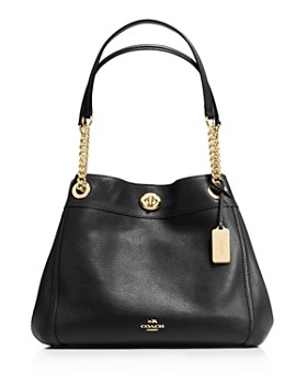 COACH - Turnlock Edie Shoulder Bag in Pebble Leather