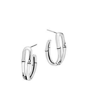 John Hardy - Bamboo Silver Small Hoop Earrings
