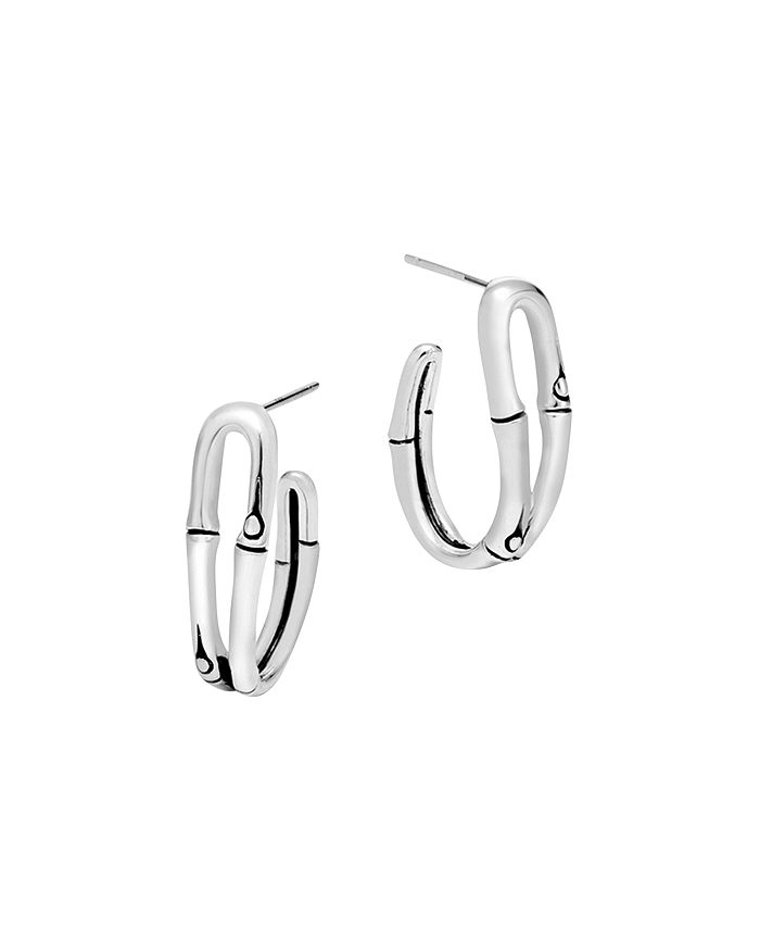 JOHN HARDY - Bamboo Silver Small Hoop Earrings