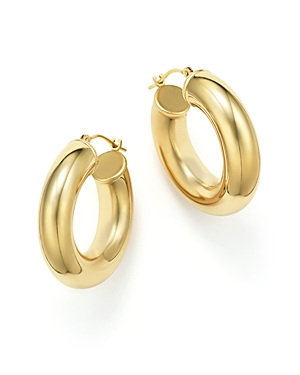 14K Yellow Gold Round Hoop Earrings - 100% Exclusive