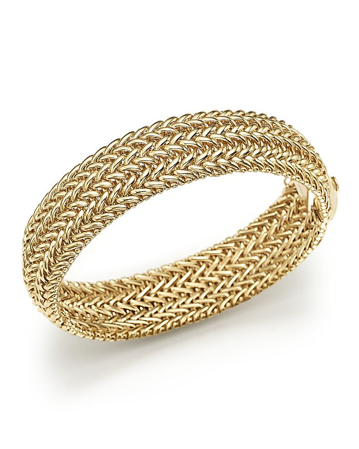 Bloomingdale's - 14K Yellow Gold 3-Row Link Bangle - 100% Exclusive
