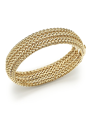 14K Yellow Gold 3-Row Link Bangle - 100% Exclusive