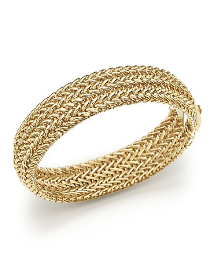 Bloomingdale's 14K Yellow Gold 3-Row Link Bangle - 100% Exclusive  | Bloomingdale's