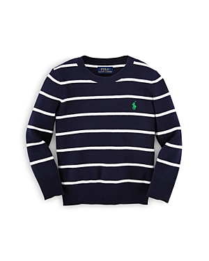 Ralph Lauren Childrenswear Boys' Stripe Cotton Sweater - Sizes 2-7