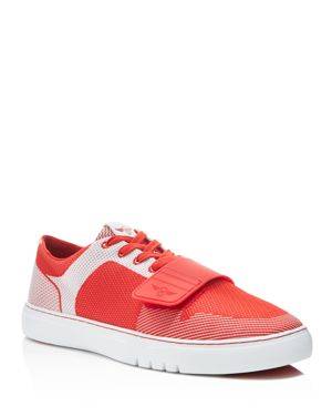 CREATIVE RECREATION Cesario Woven Lace Up Sneakers in Red