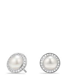 David Yurman - Albion Pearl Earring with Diamonds