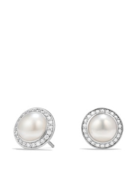 David Yurman Albion Pearl Earring With Diamonds