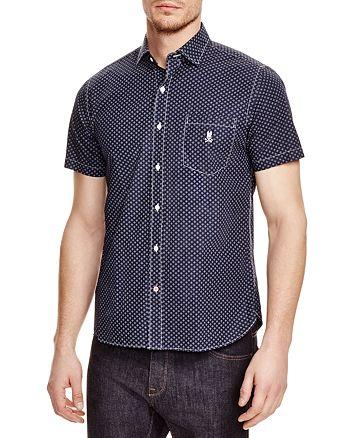 Psycho Bunny - Diamond Print Regular Fit Button-Down Shirt - 100% Exclusive