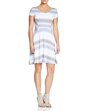 Three Dots Sabine Striped Dress
