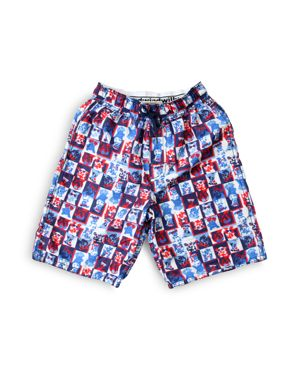 Wes & Willy Boys' Dog Print Swim Trunks - Sizes 2-7