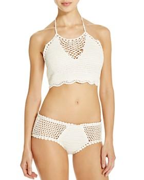 MINKPINK - Dreamweaver Crop Bikini Top & Dreamweaver Bikini Bottom