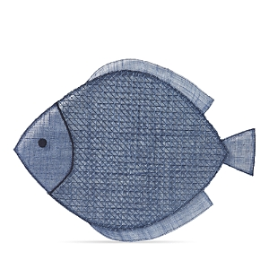 Juliska Fish Placemat Navy Blue