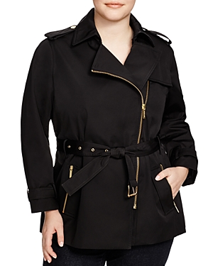 Michael Michael Kors Plus Zip Trench Coat plus size,  plus size fashion plus size appare