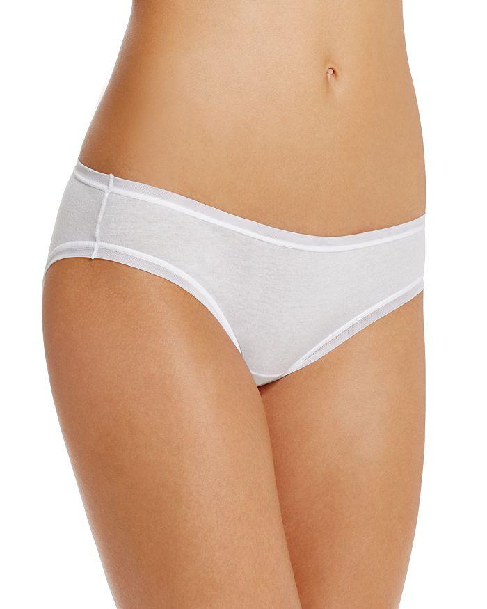 Fine Lines Pure Cotton Bikini In White