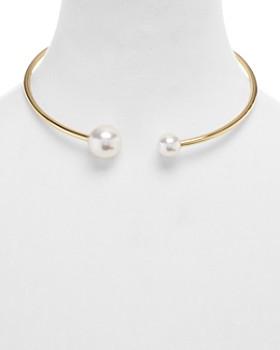 Rebecca Minkoff - Simulated Pearl Collar Necklace